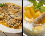 Chupito de kiwi, yogur y melocotón