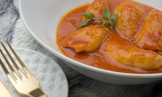 Receta de Chipirones rellenos en salsa