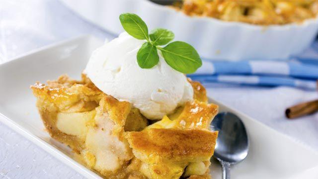 Tarta de manzana americana con helado