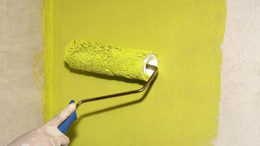 Como pintar con rodillo de pelo corto