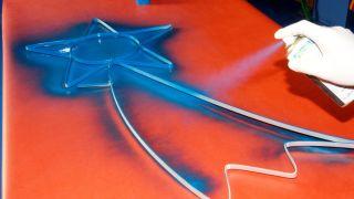 Estrella con tubo luminoso