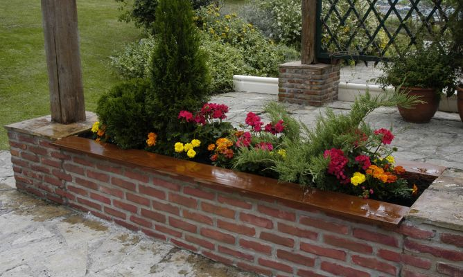 Jardinera pretil o imitaci n a ladrillo bricoman a for Jardineras para patio casa