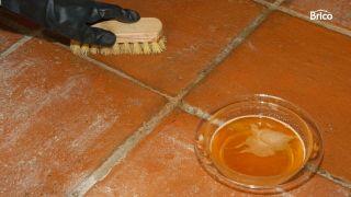 abrillantar y limpiar suelos de barro cocido interior