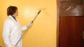 Pintar pared de obra de pasillo