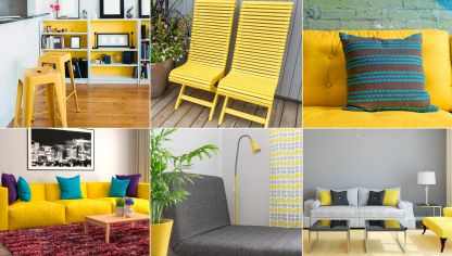 Ideas para decorar en color amarillo