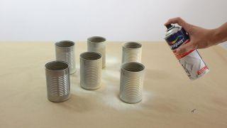 Organizador DIY con latas - Paso 1