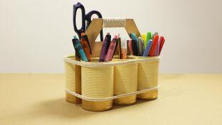Organizador DIY con latas