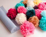 alfombra pompones DIY - paso 2