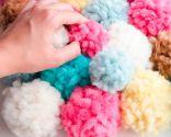 alfombra pompones DIY - paso 4