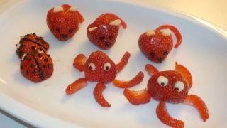 Animales con forma de fresa