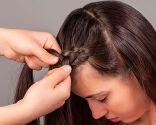peinado trenza corona - paso 1