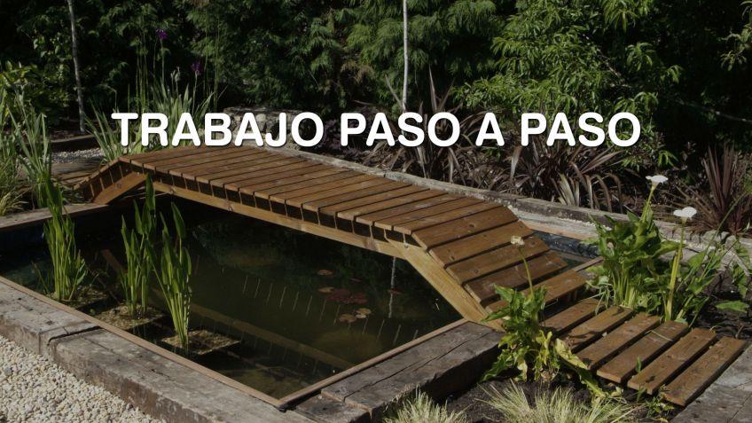 Construir un puente para un estanque bricoman a for Peces para estanque de jardin