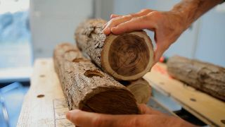 Cómo hacer troncos decorativos con velas