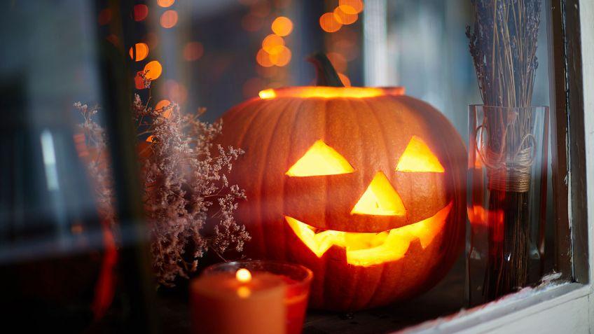 calabazas con velas para halloween