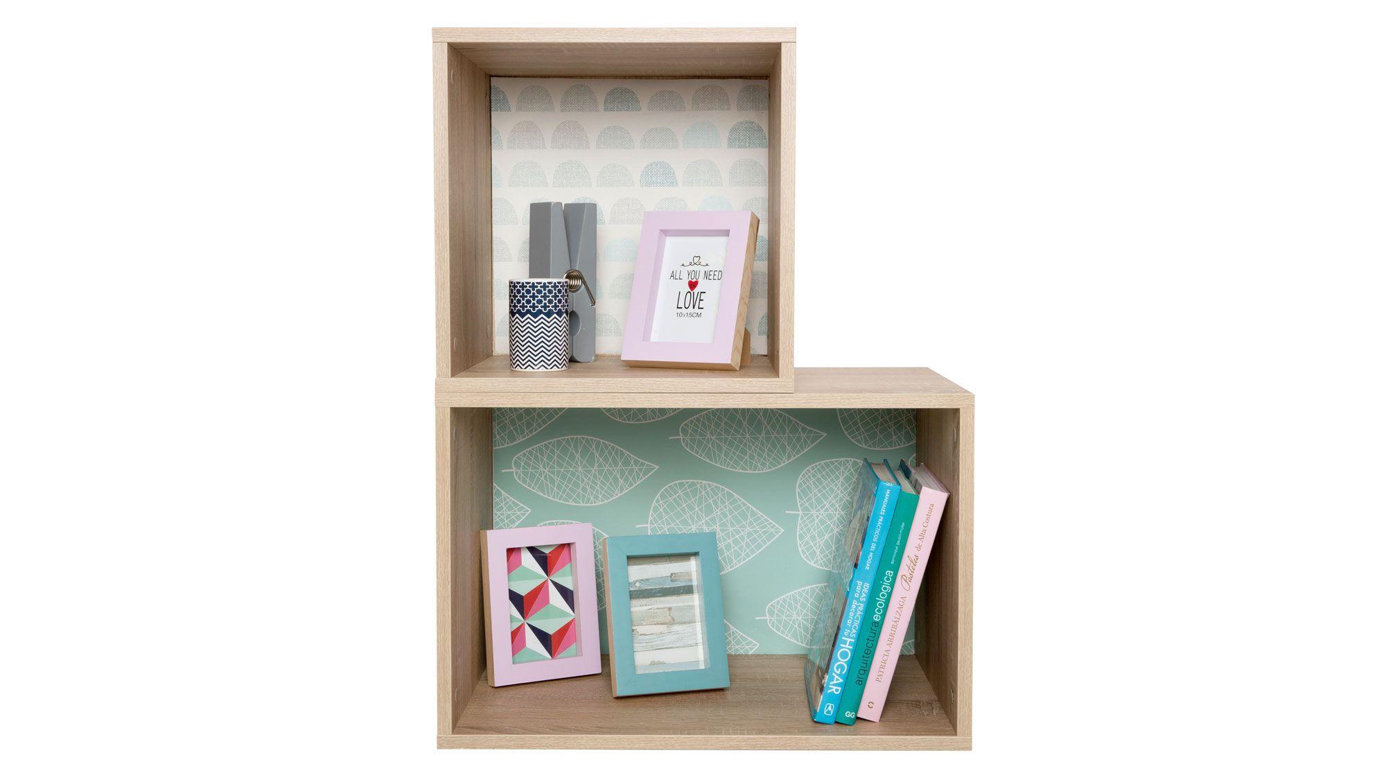 cajas estantería