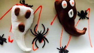 Fantasmitas de fresa con chocolate
