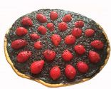 Pizza de fresas con chocolate