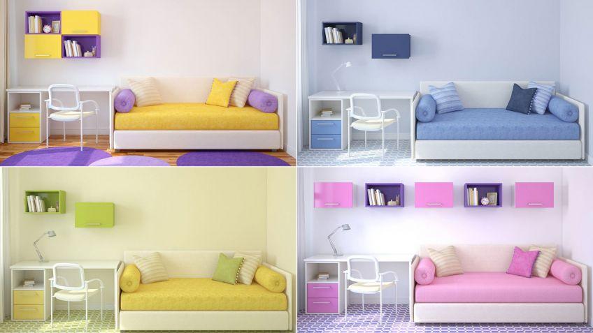 4 opciones para combinar colores en una habitación juvenil - Hogarmania