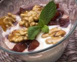 Peras al Oporto con yogur