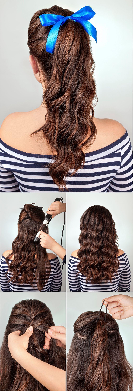 peinados con minilazo - coleta