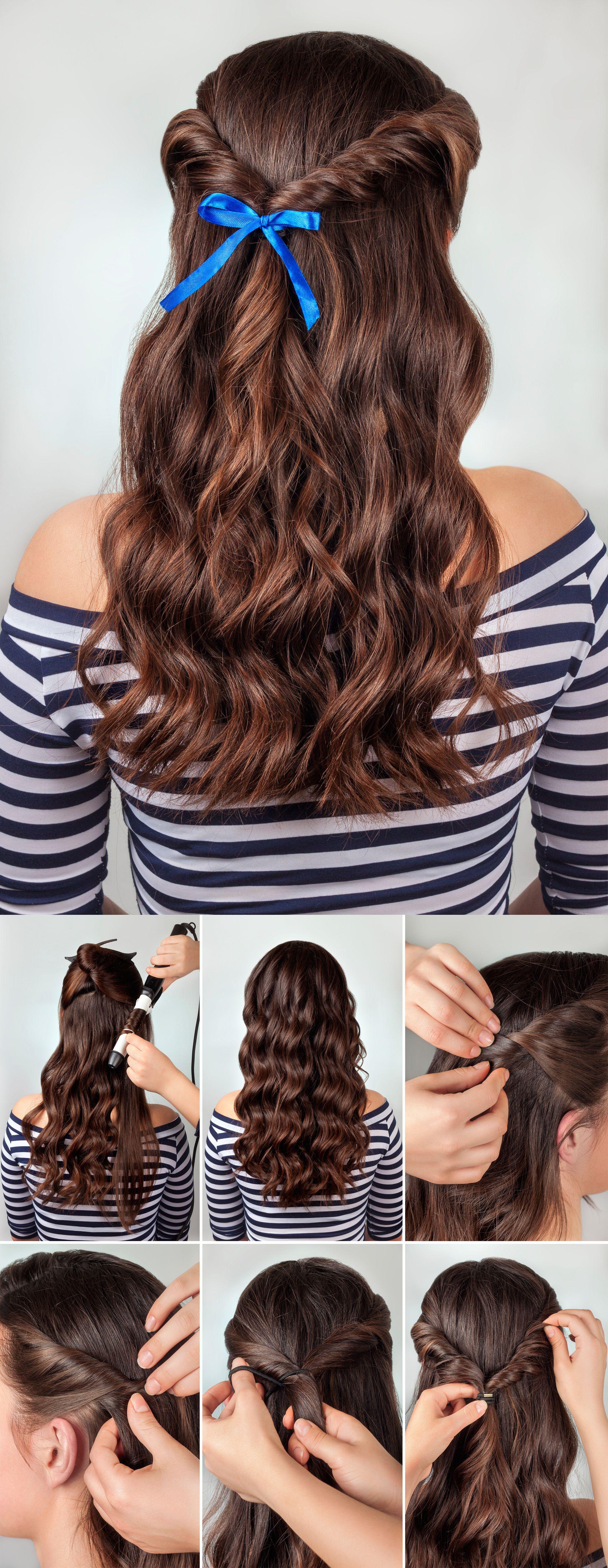 peinados con minilazo - semirecogido