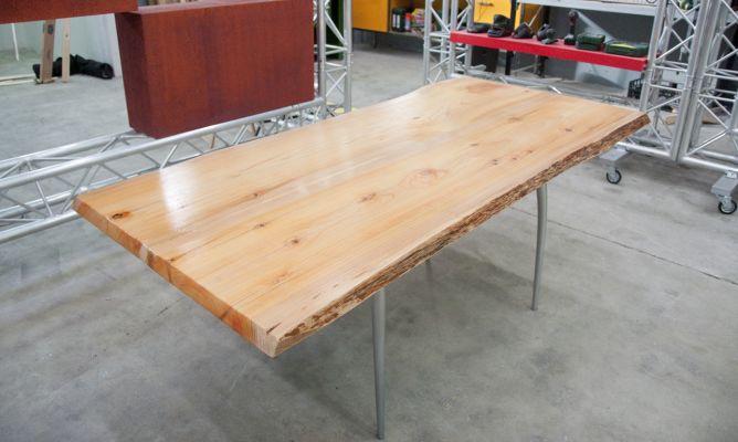 Construir mesa de madera org nica bricoman a for Tablon madera maciza