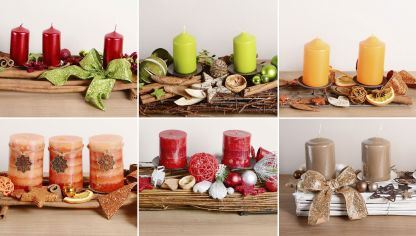 Reciclar tarros de cristal en navidad decoraci n - Centros de mesa navidenos hechos a mano ...