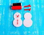 Cómo hacer un muñeco de nieve de fieltro para Navidad