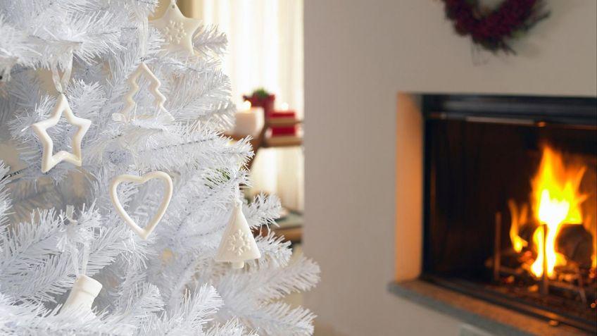 decorar un rbol de navidad blanco