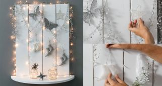 Decorar recibidor con toques navide�os