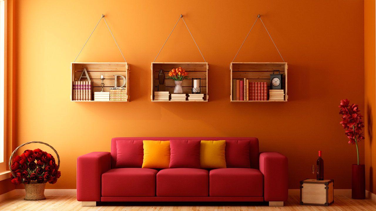Ideas para decorar con cajas de madera hogarmania for Decoracion en madera para paredes