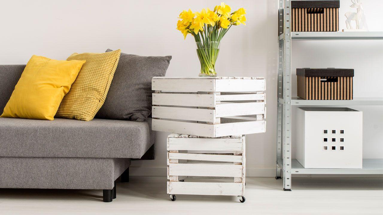 Ideas para decorar con cajas de madera hogarmania for Decoracion de cajas
