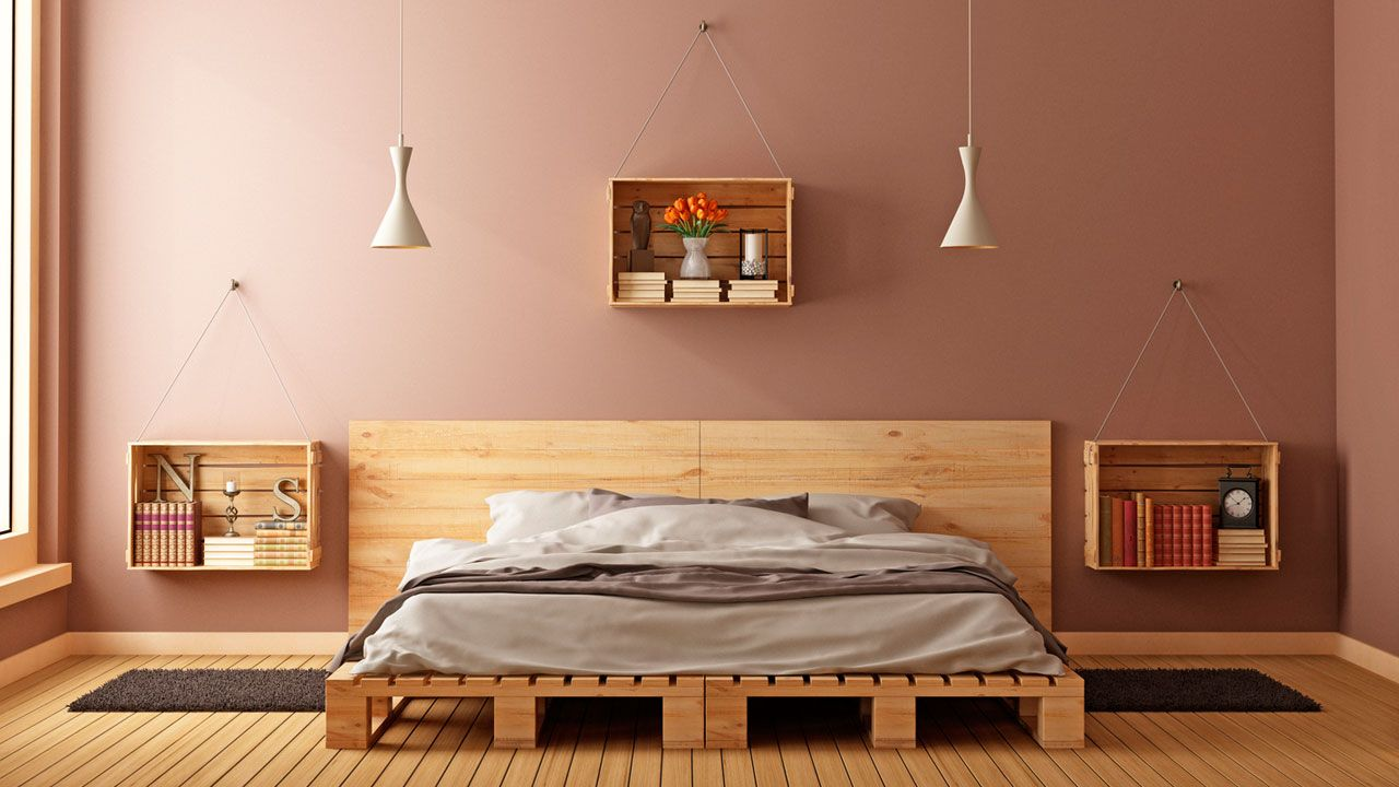 Ideas para decorar con cajas de madera hogarmania - Ideas mesita de noche ...