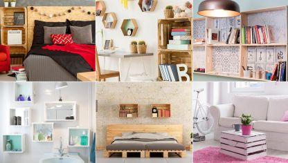 ideas para decorar con cajas de madera
