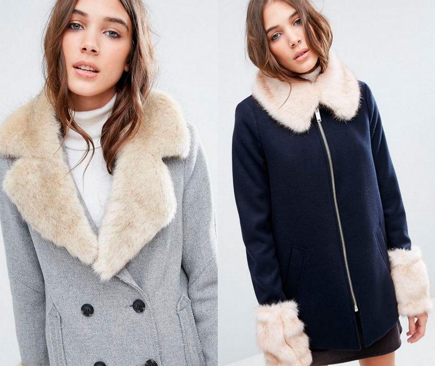 moda invierno pelo - cuellos y puños