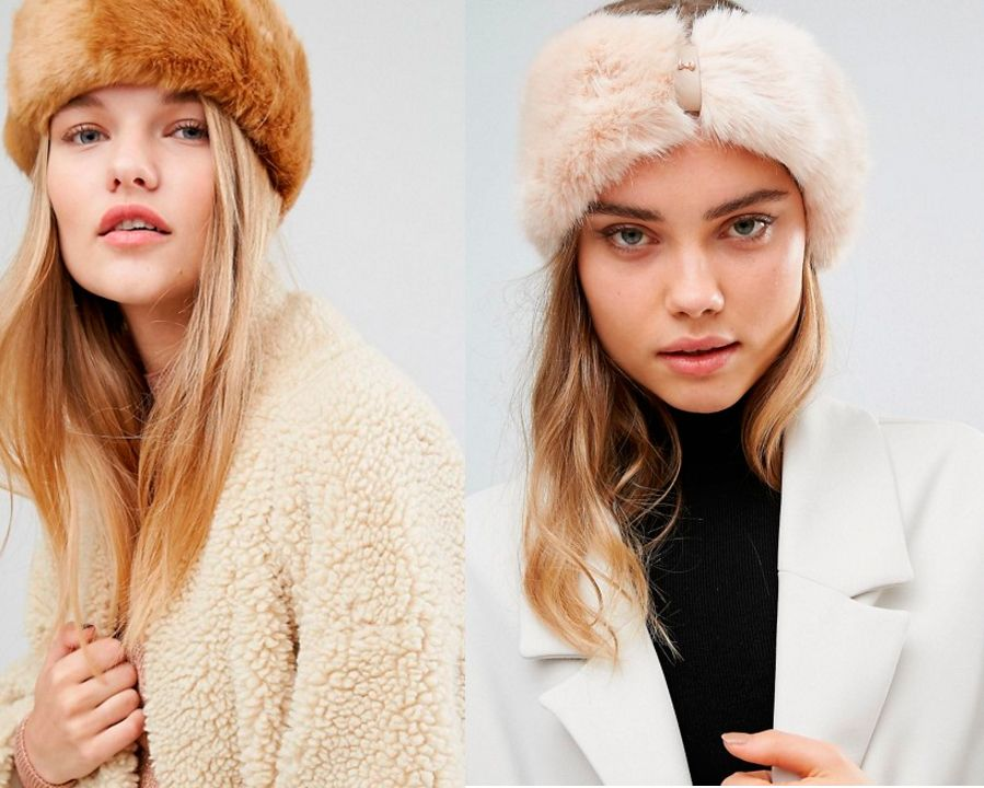 moda invierno pelo gorro