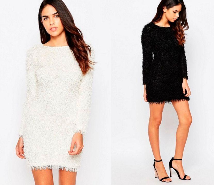 moda invierno pelo vestidos