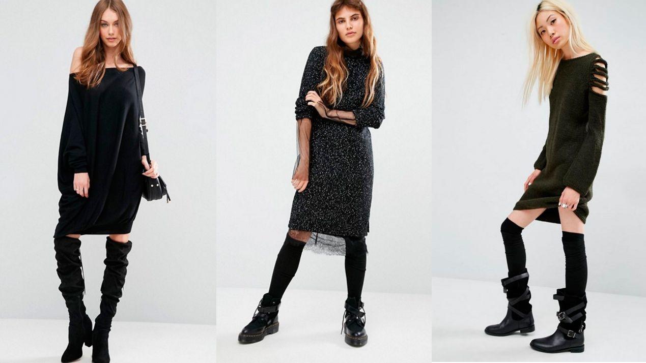 vestidos tipo jersey - botas