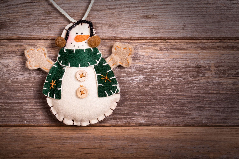 Ideas para hacer muñeco de nieve de fieltro