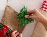 Perchero para colocar los regalos de Navidad - Paso 4