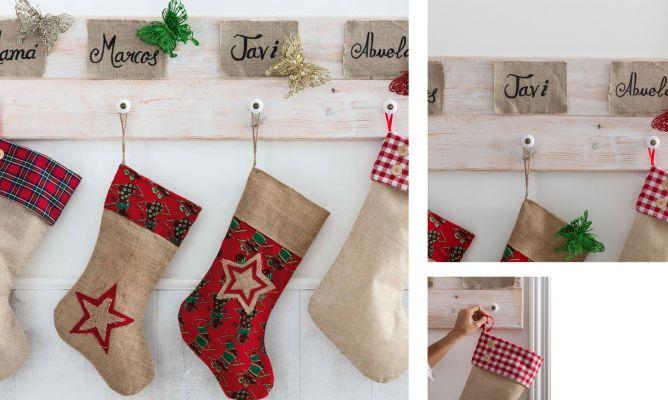 Como Decorar Calcetines Para Navidad.Perchero Para Colocar Los Regalos De Navidad Hogarmania