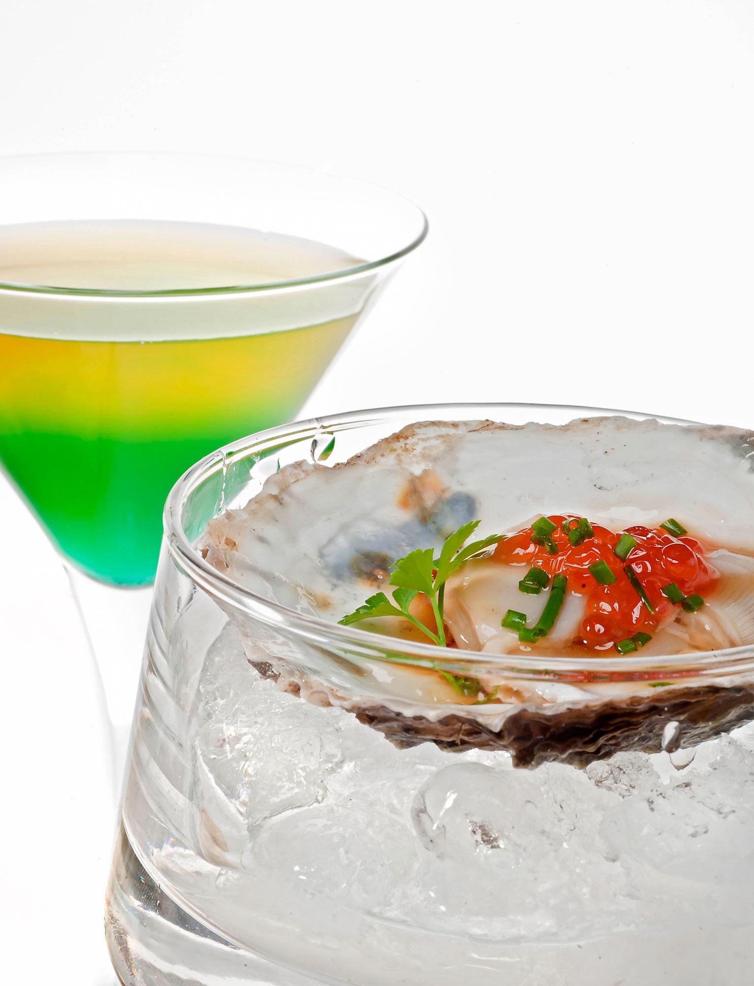 Ostras marinadas y cóctel Oyster Special - Detalle