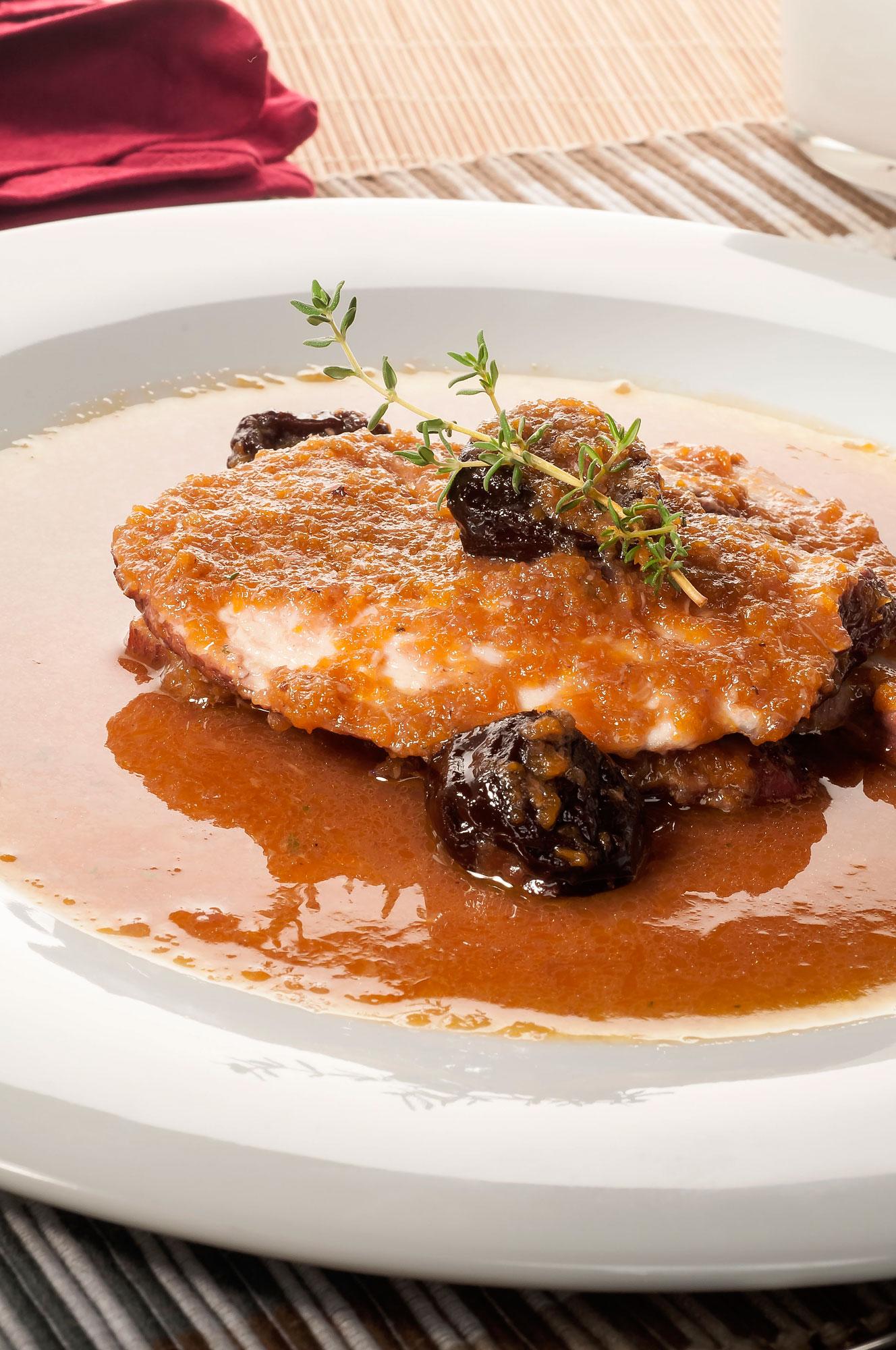 Pechuga de pavo en salsa de Oporto