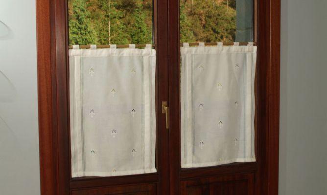 Colocaci n de visillos en ventana bricoman a - Corte ingles cortinas y estores ...