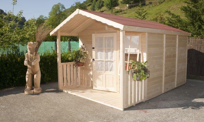 Caseta de madera bricoman a - Casetas para el jardin ...
