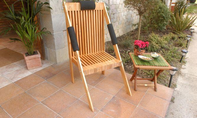 Silla de madera para jard n bricoman a for Bricolaje para jardin