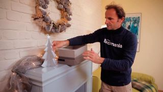 Cómo hacer un pino navideño de madera
