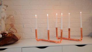 Hacer un candelabro con tubos de cobre