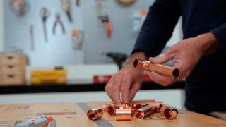 Cómo hacer un candelabro de cobre