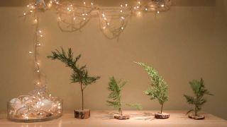 Mini árboles de Navidad de estilo natural